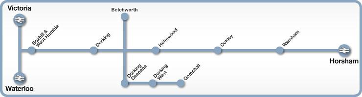 Victoria to Horsham rail line map